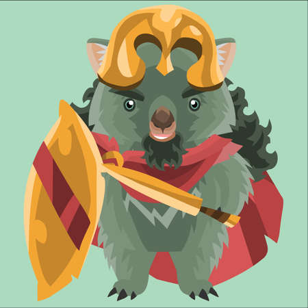 wombat: wombat as a roman soldier
