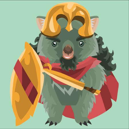 wombat: wombat como soldado romano