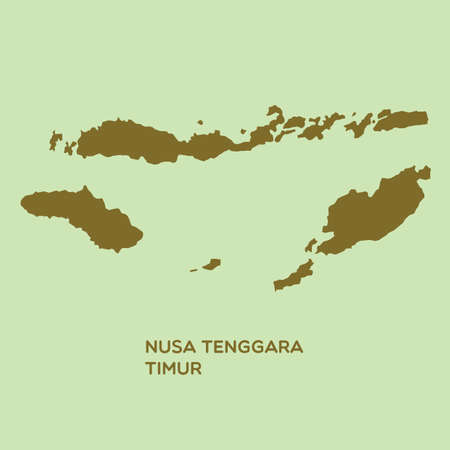 nusa: map of nusa tenggara timur Illustration