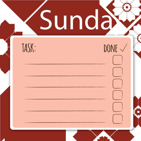daily: blank daily checklist template