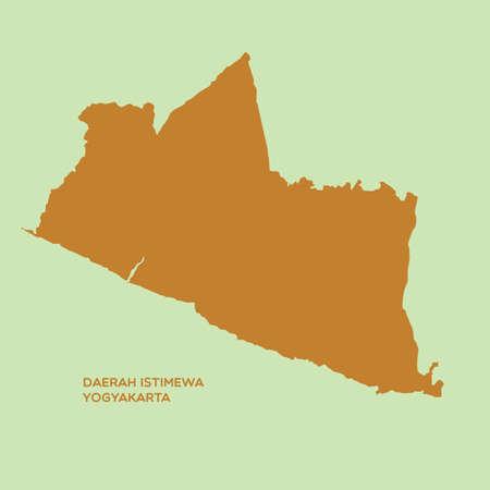 YOGYAKARTA: map of daerah istimewa yogyakarta