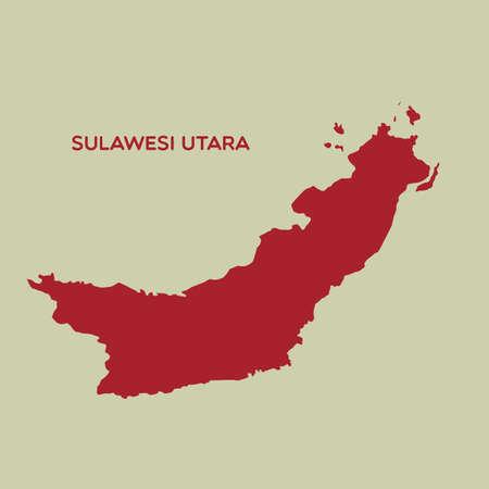 sulawesi: map of sulawesi utara