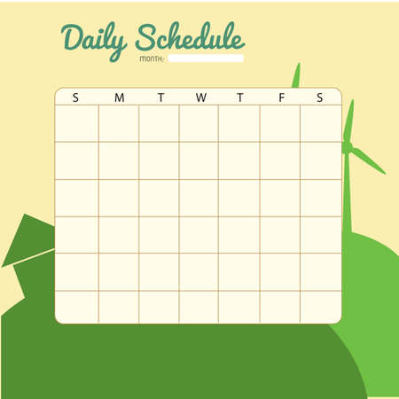 planner: blank daily planner template design