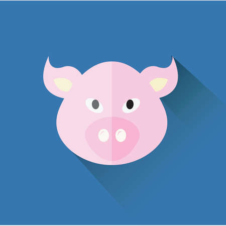 swines: chinese zodiac of a pig Illustration
