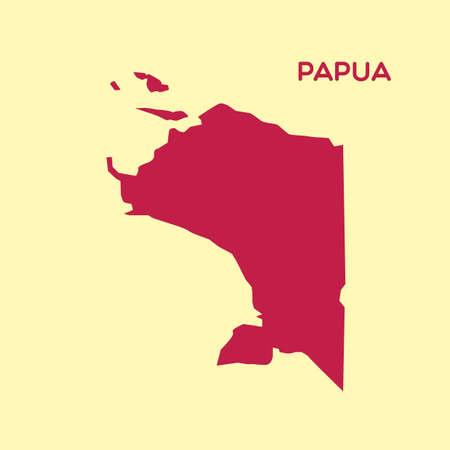 carte de papouasie Vecteurs