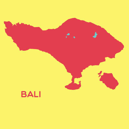bali province: map of bali Illustration