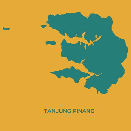 pinang: map of tanjung pinang