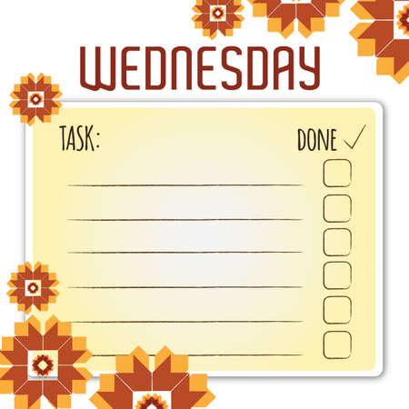 checklist: blank daily checklist template