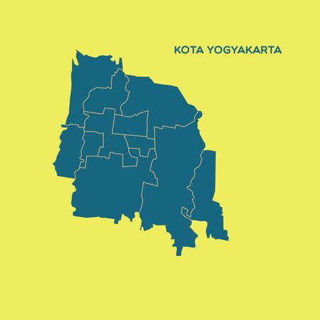 YOGYAKARTA: map of kota yogyakarta