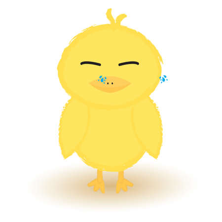 chick: baby chick crying Illustration