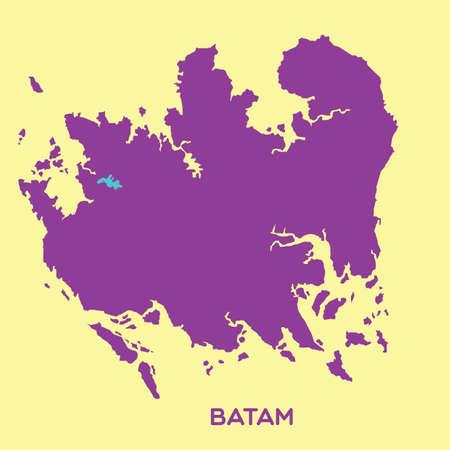 municipality: map of batam Illustration
