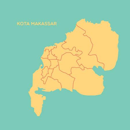 map of kota makassar