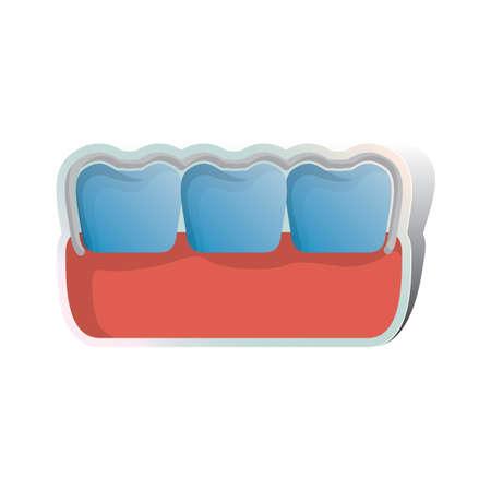 dientes sucios: dientes sucios Vectores