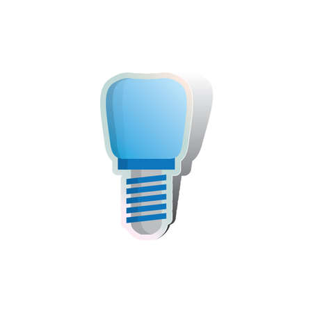 falso: tornillo en la dentadura falsa