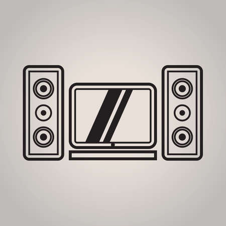 led: led tv and speakers