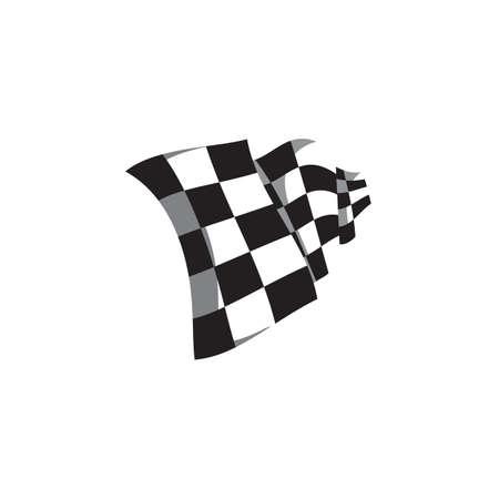 flag: racing flag Illustration