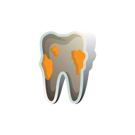 placa bacteriana: diente con la placa