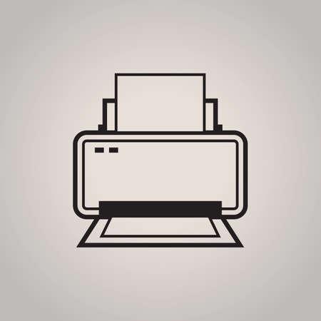 printer drawing: printer