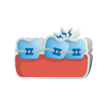 braces: braces for fixing unaligned teeth