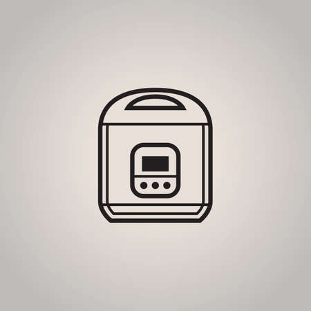 the electronic: electronic rice cooker Illustration