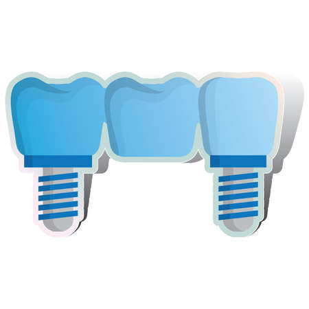 false: screw on false dentures