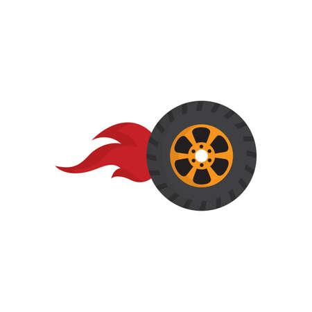 blazing: blazing wheel Illustration