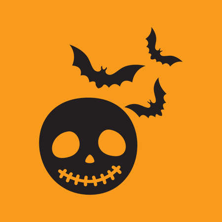 halloween mask: halloween mask with bats Illustration