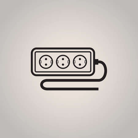 cord: extension cord Illustration