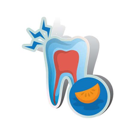 acidity: tooth sensitive to acidity Illustration