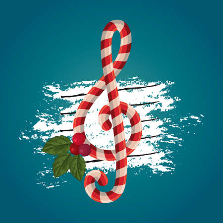 christmas themed music note