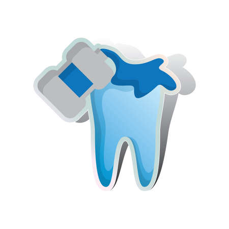 enjuague bucal: enjuague bucal y dental Vectores