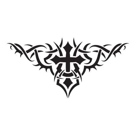 diseño del tatuaje tribal  Ilustración de vector