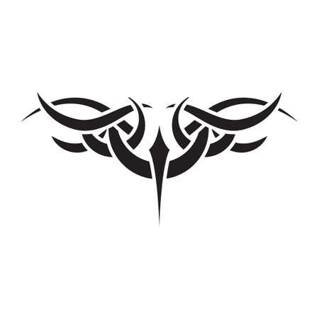 Conception de tatouage tribal Banque d'images - 52645727