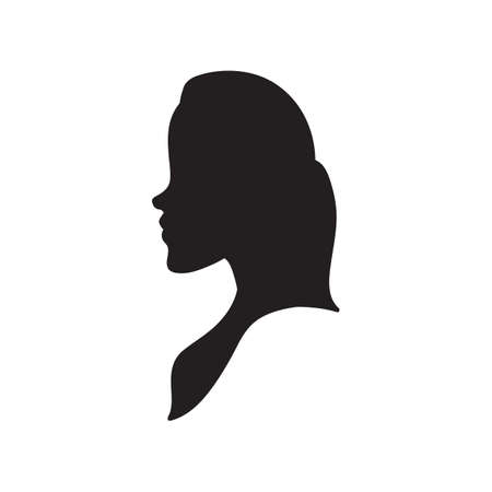 sideview: silhouette of a woman