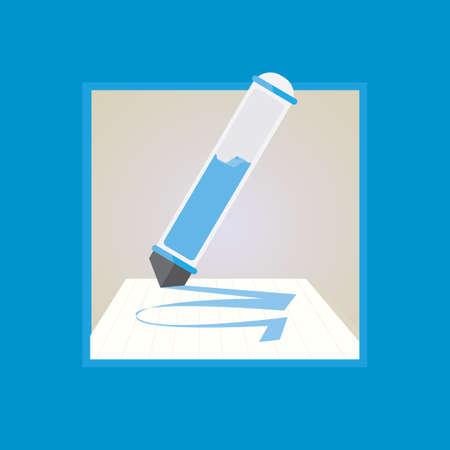 highlighter pen: highlighter pen writing on paper
