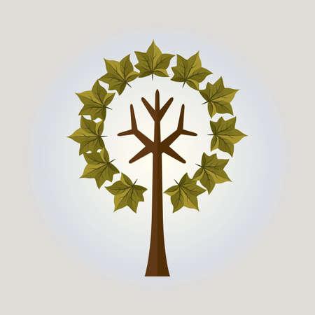 stylized tree: stylized tree Illustration