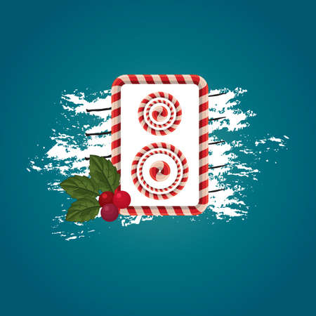 themed: christmas themed loudspeaker vector