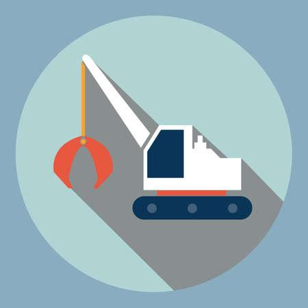 grabbing: grabbing tractor Illustration