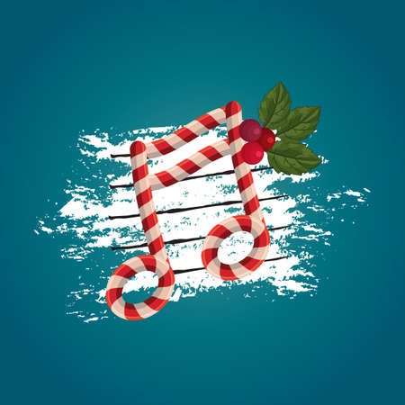 themed: christmas themed music note