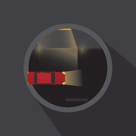headlight: car on street