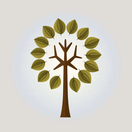Arbre stylisé  Banque d'images - 52653298