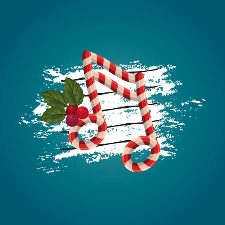 semiquaver: christmas themed music note