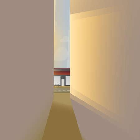 alleys: street alley Illustration
