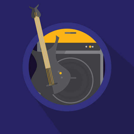 guitar amplifier: electric guitar and amplifier