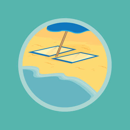 seashores: beach Illustration
