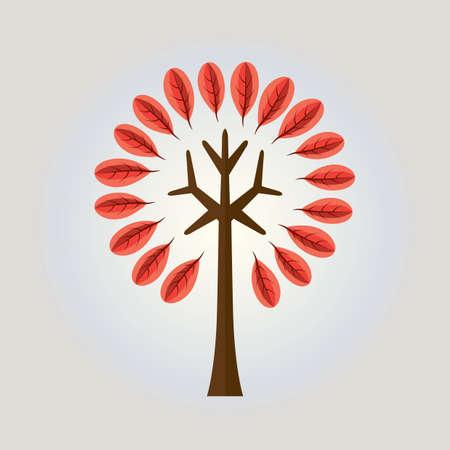 stylized tree Vettoriali