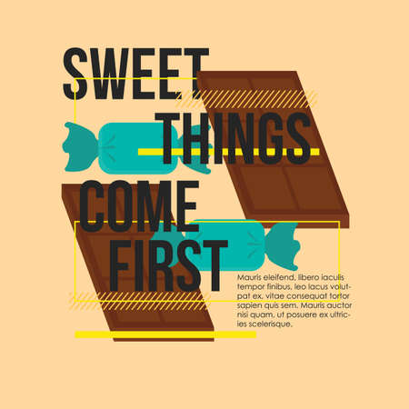 come on: sweet things come first quote