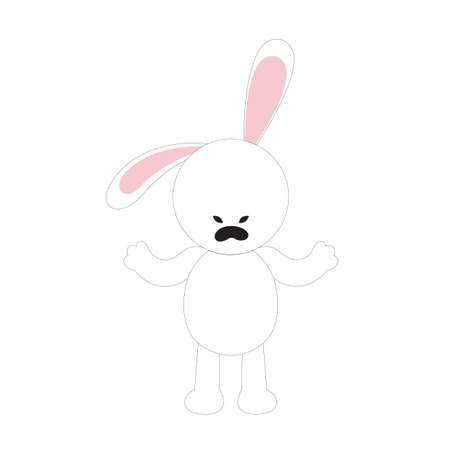 furious: rabbit cartoon feeling furious