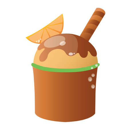 wafer: ice cream with wafer Illustration