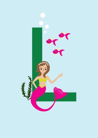 letter l Illusztráció